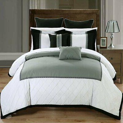 greensville green and white 7 piece comforter