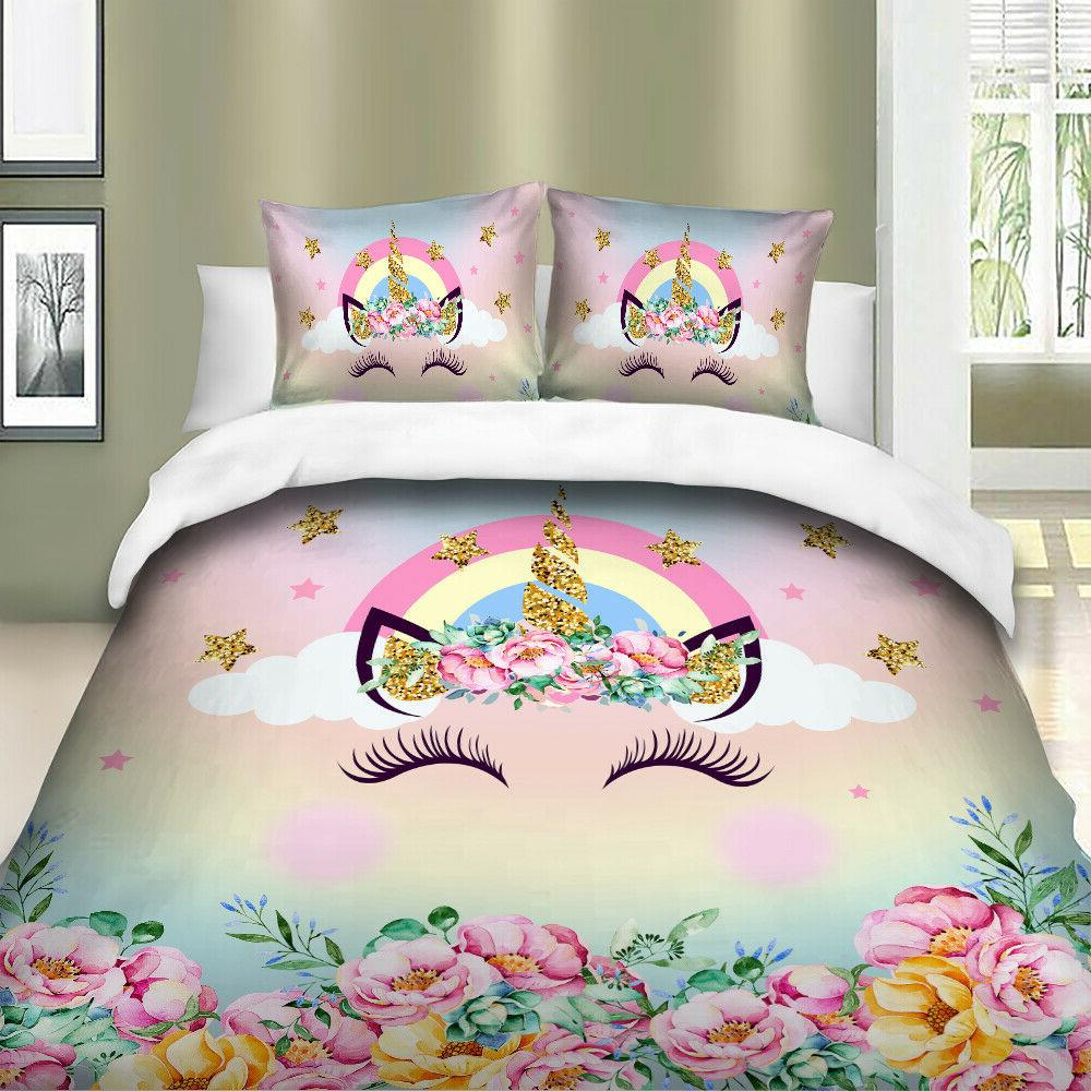 HD Unicorn Bedding Set Duvet Cover Set For Comforter Pillow