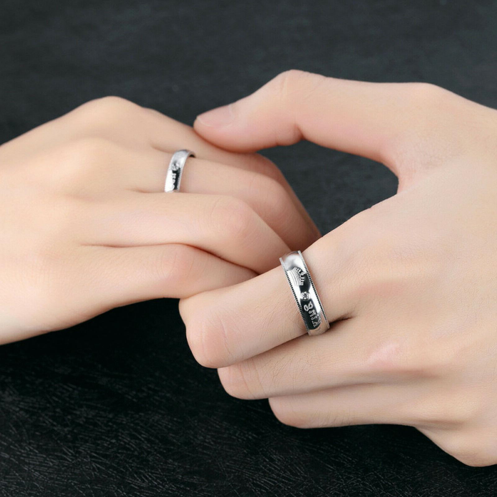 Her King or Queen Couple's Ring Comfort Band