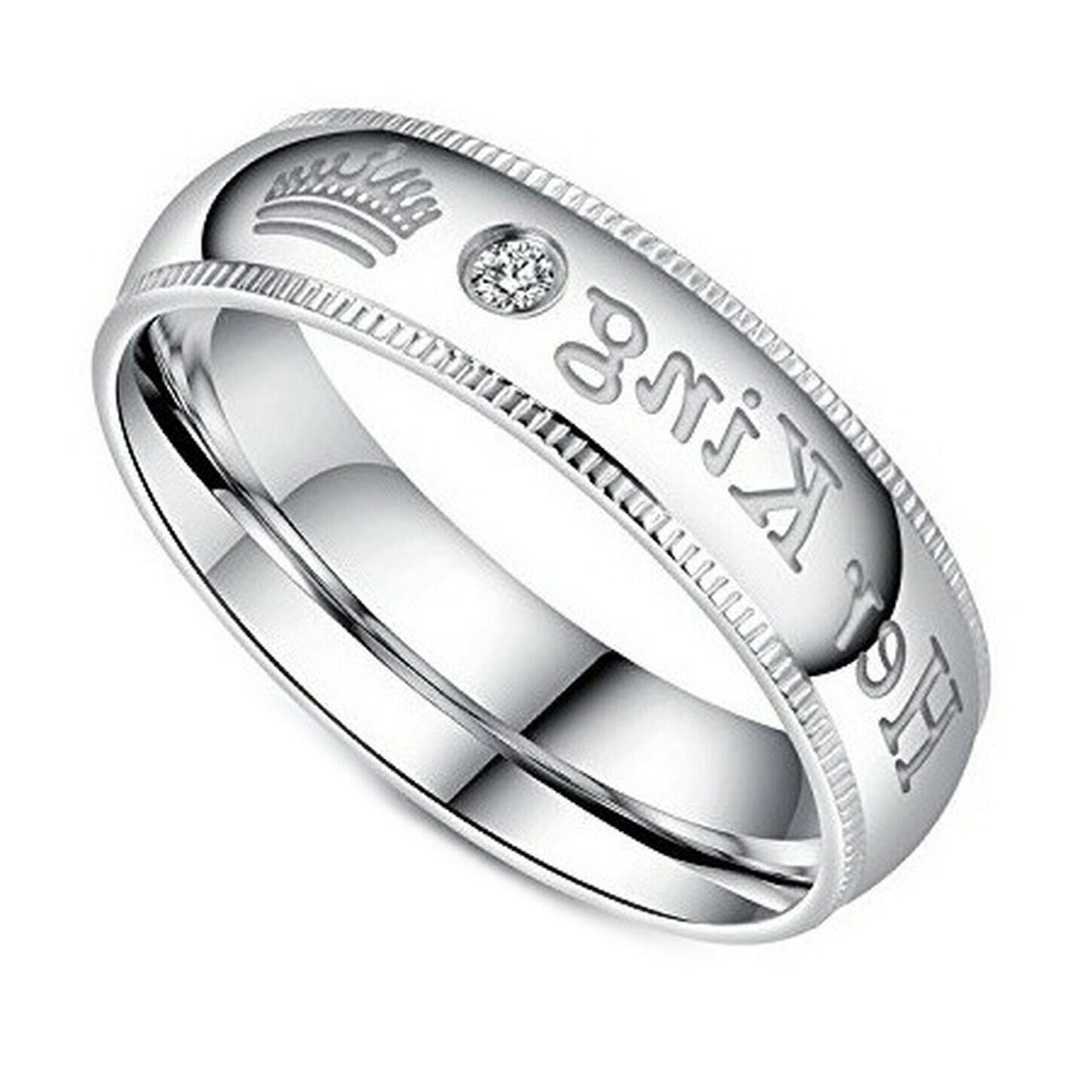 Her Queen Couple's Ring Comfort Fit Wedding Band