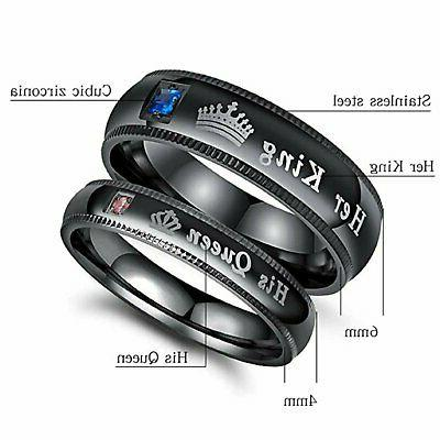 His King Couple's Promise Ring Comfort Wedding Band