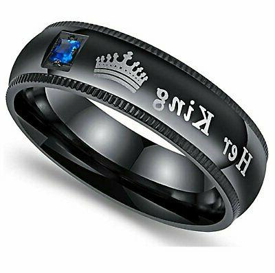 His King Couple's Matching Ring Fit Band