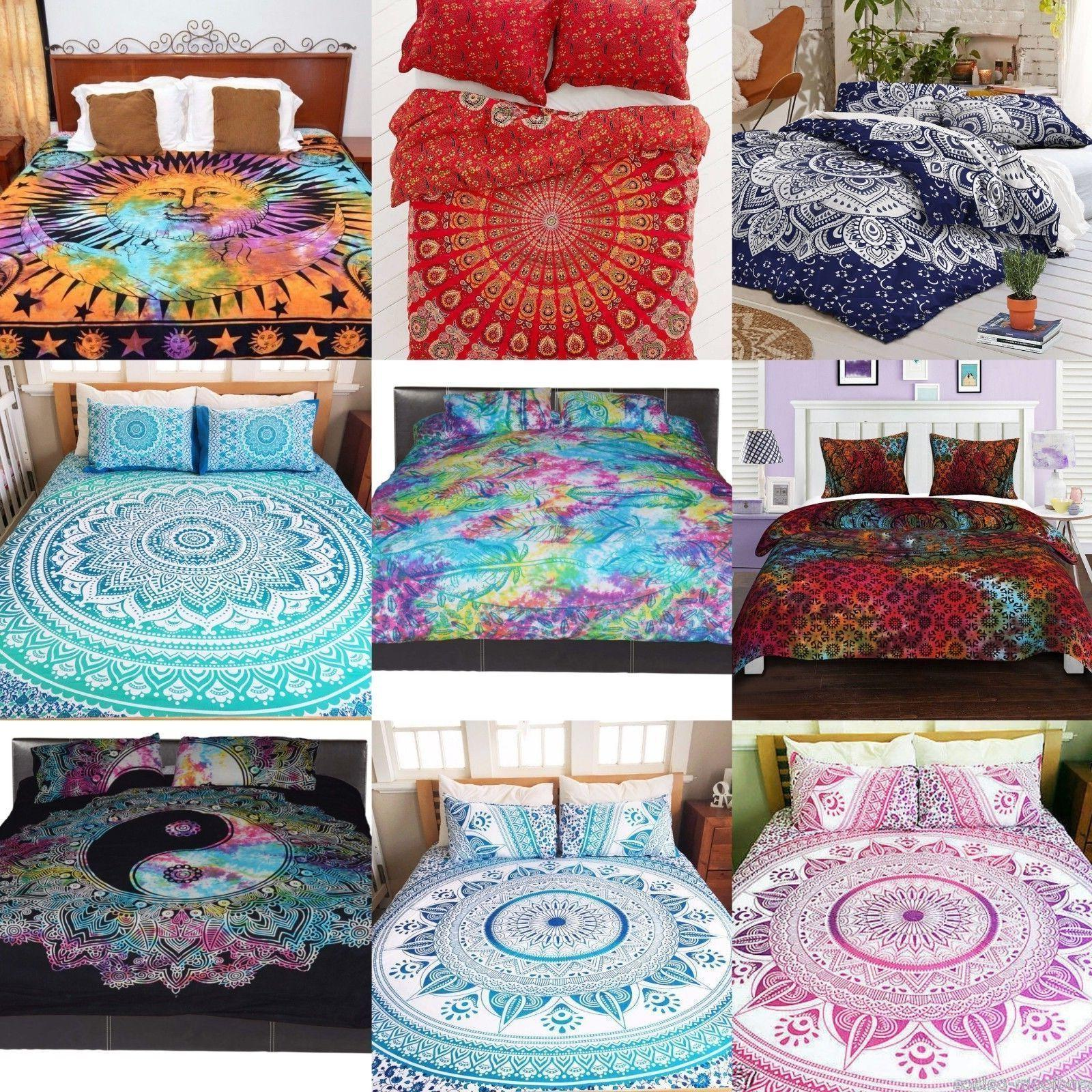 Indian Mandala Duvet Cover Boho Queen Quilt Comforter Cover