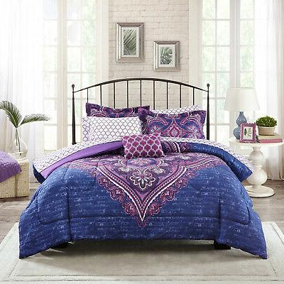 King, Queen, Full, or Twin Size 8 Piece Bedding Comforter Se