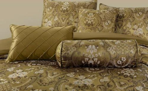 Lennox Gold Floral Jacquard or 4pc