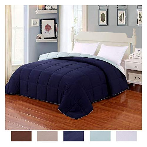 lightweight reversible comforter down alternative