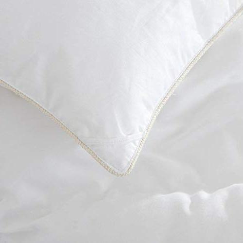 LUXURIOUS 1200 Thread GOOSE DOWN Insert, - 100% Cotton Cover, Fill 50 Fill White