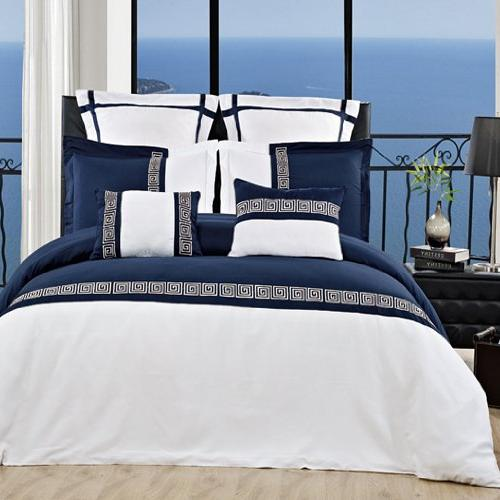 luxurious astrid navy white embroidered