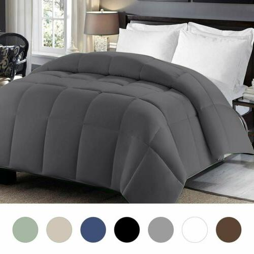 Luxurious Goose Down Alternative Comforter Thread 100% Cotton