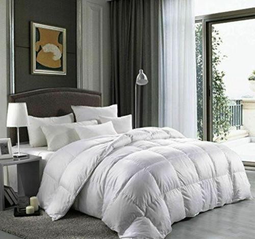 luxurious goose down alternative comforter 1200 thread