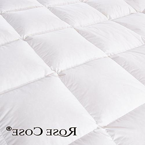 ROSECOSE Comforter Duvet All Hypo-allergenic Count 750+ Fill Cotton Proof with Tabs