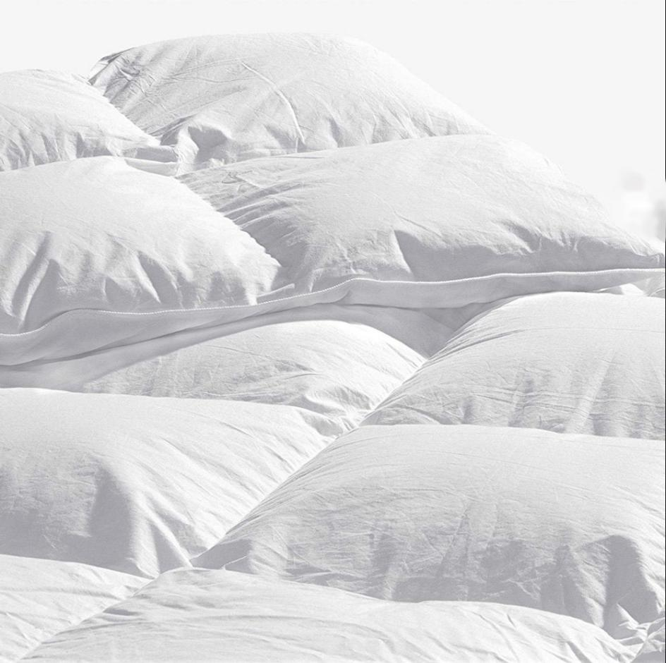 Royal Luxe Goose Down 100% stripes lofty Comforter