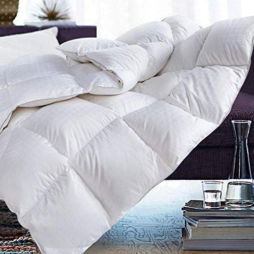 ROSECOSE Goose Duvet Hypo-allergenic 1200 Thread Count 750+ 100% Cotton Tabs Checkered