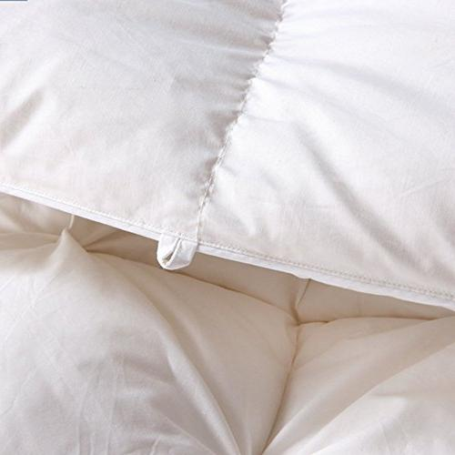 ROYALAY Luxurious All-Seasons Goose Down Comforter-Solid, Hypoallergenic,Corner Duvet Tabs, Thread Cotton Cover