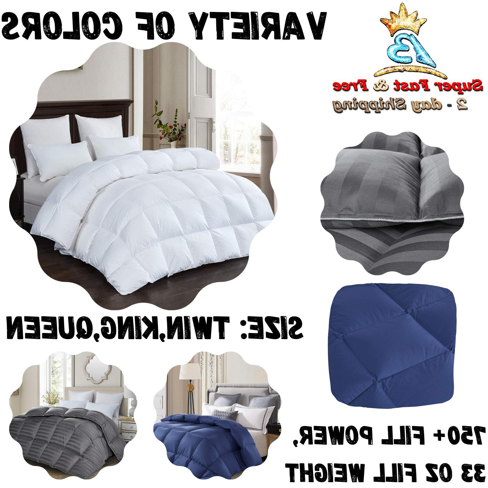 Luxury 1200 TC Siberian Goose Down Comforter 100% Egyptian C