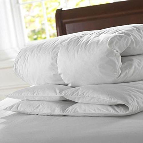 Luxury 350 All Seasons Plush Down Queen Duvet White Quilted with Corner Tabs Plush Fiberfill Stitched
