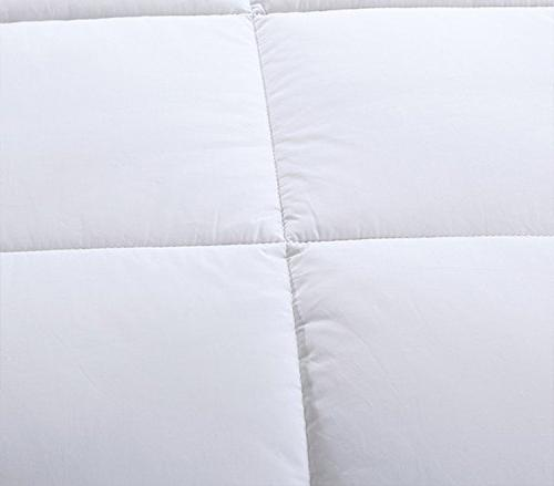 Luxury GSM Seasons Extra Down Comforter Duvet Insert with Hypoallergenic Plush Stitched