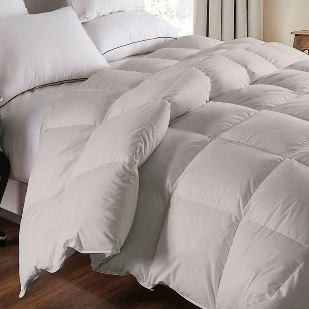 100% Egyptian 1200 TC Comforter Siberian Gray