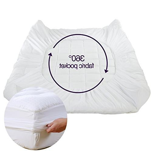 EASELAND Mattress Pad -Mattress Cover Stretches up Down Alternative Filling Topper