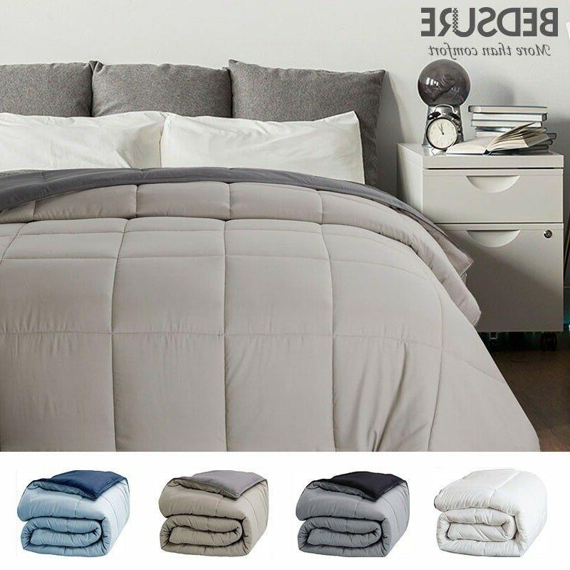 Bedsure Down Alternative Comforter Reversible Comforter Duve