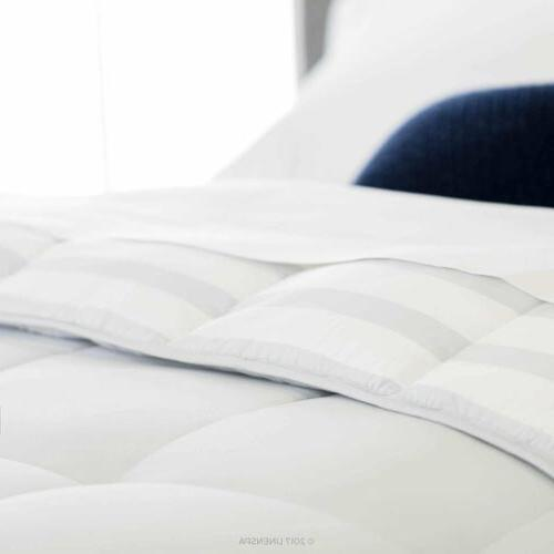 Luxury soft stripe Down Comforter Twin Queen Size,4Colors