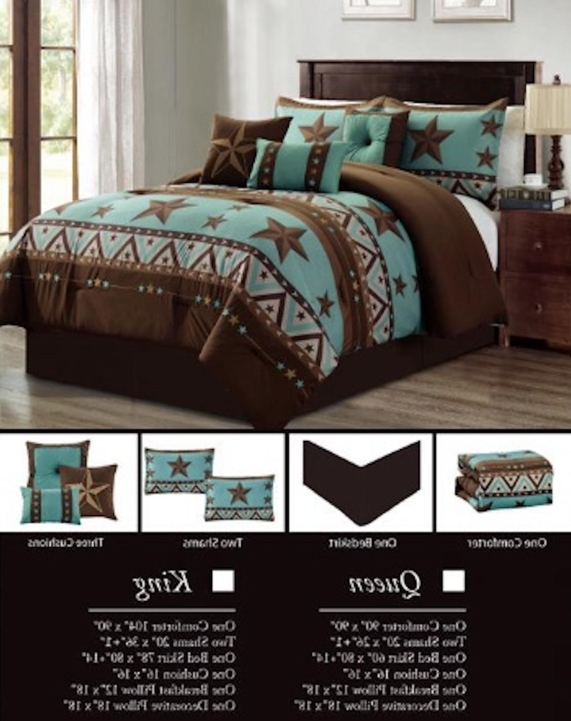 Luxury South Turquoise Rustic Comforter Piece