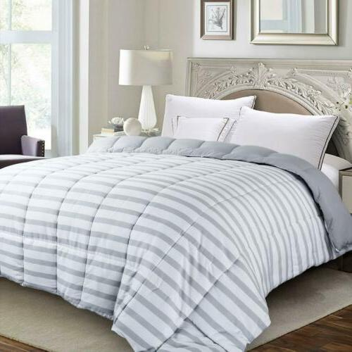 luxury supersoft down alternative comforter striped twin