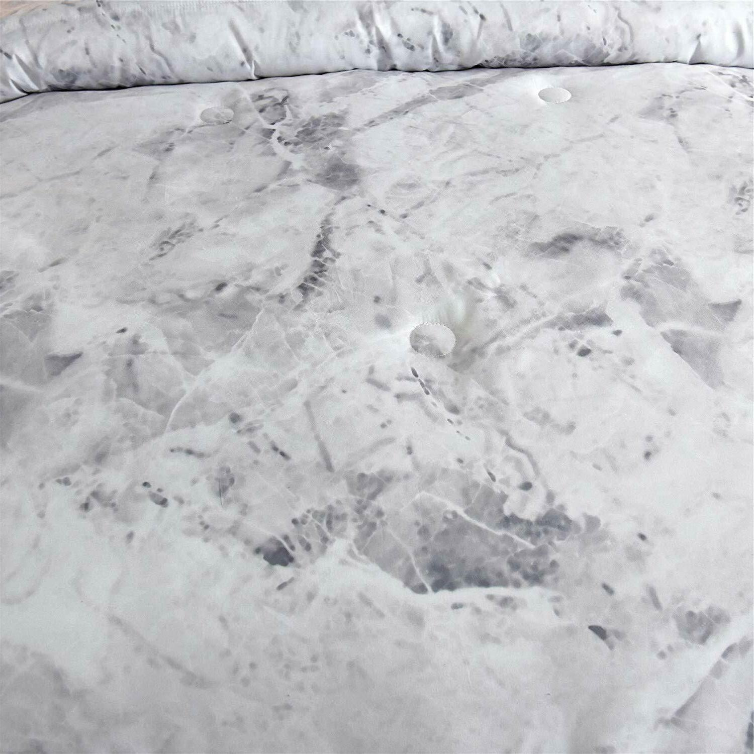 Marble Pattern Comforter Ultra Soft Bed-in-a-Bag