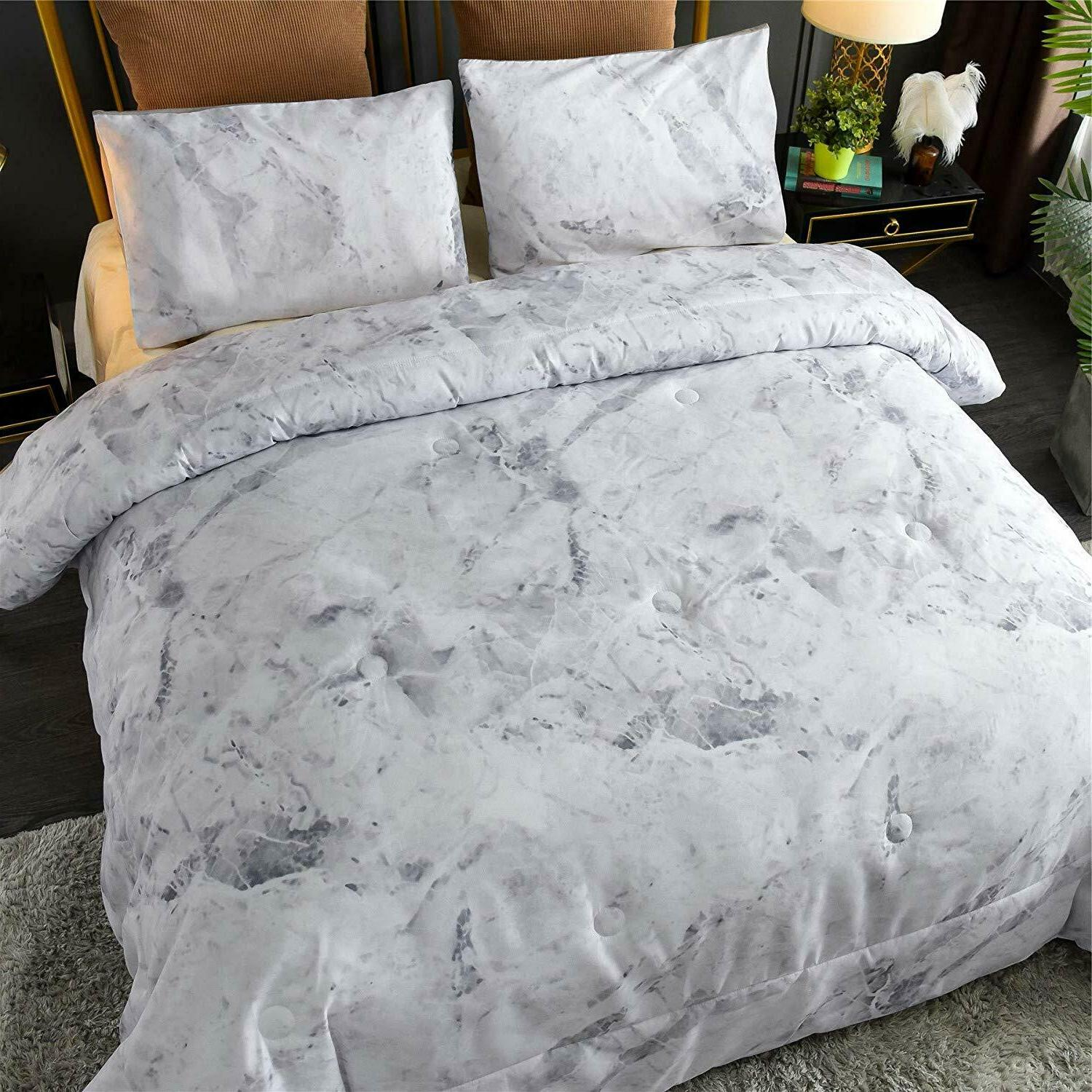 Marble Pattern Set Bed-in-a-Bag Queen