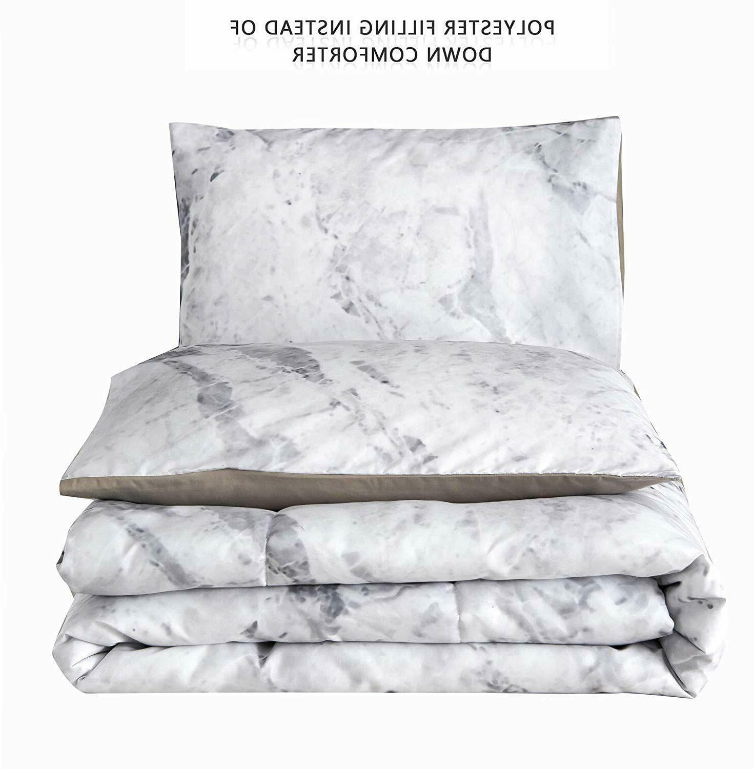 Marble Comforter Ultra Soft Quilt Bed-in-a-Bag