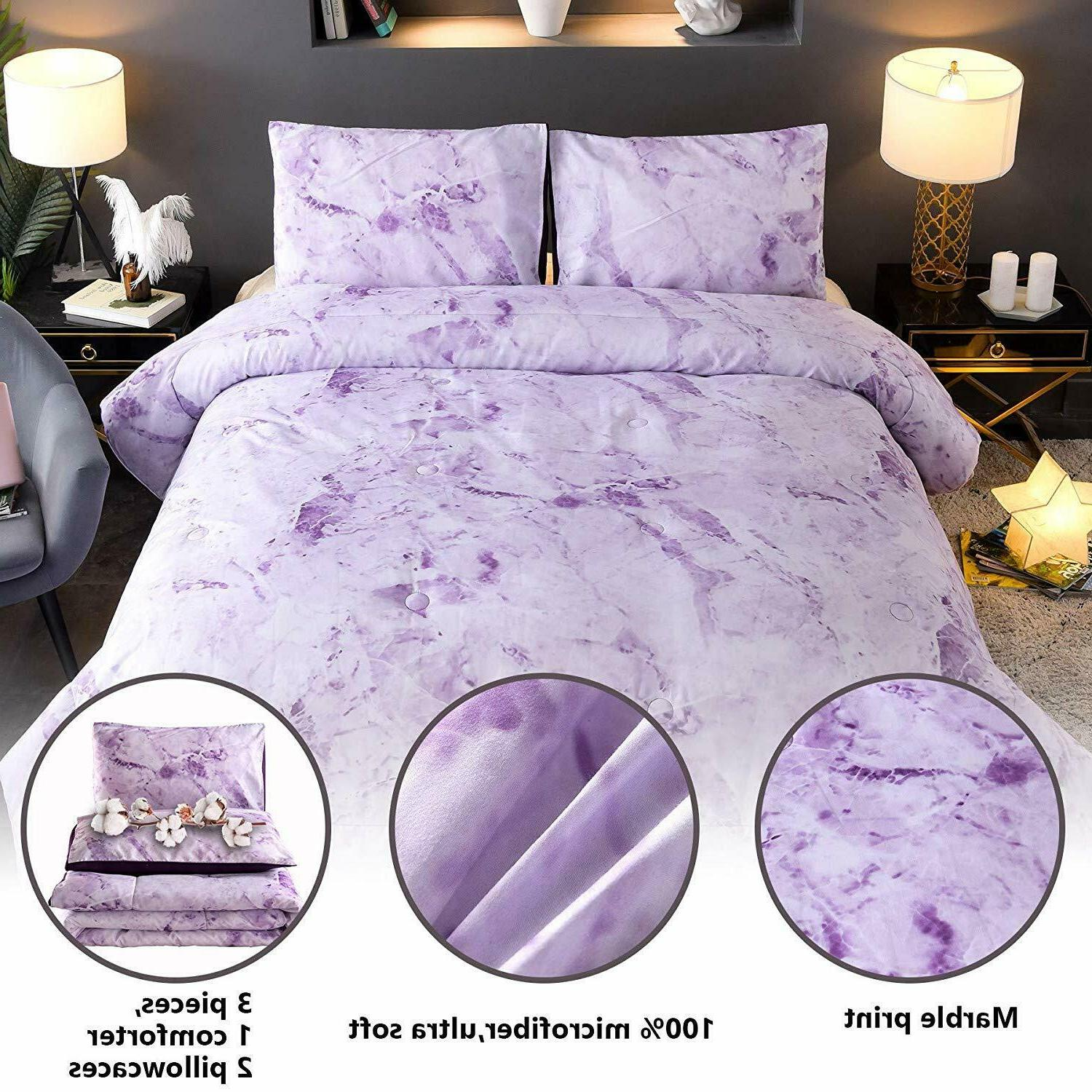 Marble Comforter Ultra Soft Bed-in-a-Bag Size