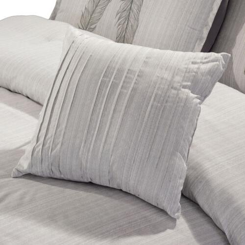 Chezmoi Collection 7-Piece Chic Feathers Comforter