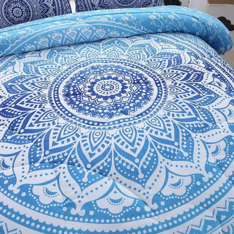 Meeting 3Pcs Bohemian Moonlight Bedspread Comforter Set (B