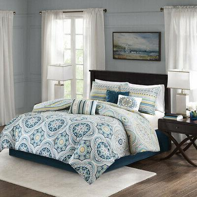 mercia 7 piece reversible cotton sateen comforter