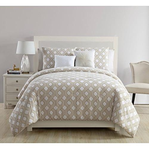 White Full Shapes Pattern Contrasting Color Adults Bedroom Contemporary Elegant Gorgeous, Polyester