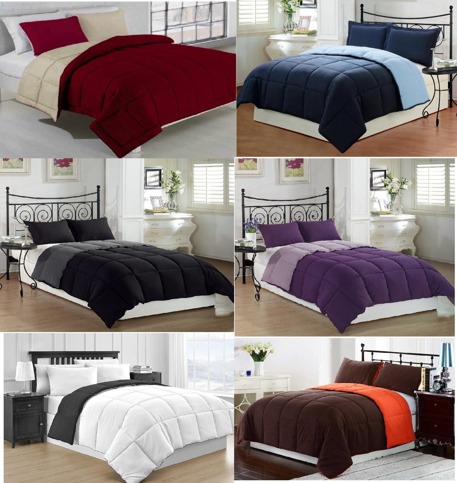 REVERSIBLE COMFORTER MICROFIBER 1 PIECE 12 DIFFERENT COLORS
