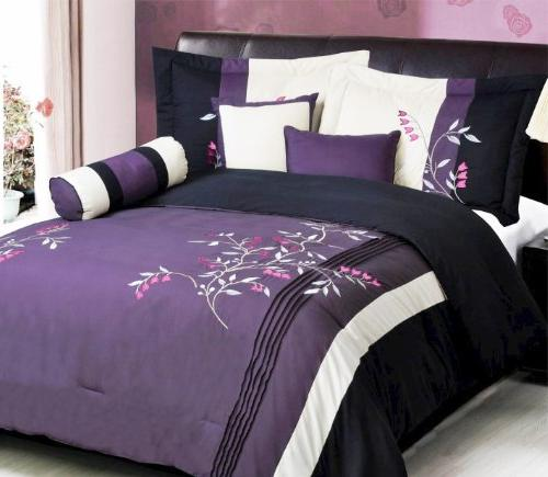 modern oversize purple white pink