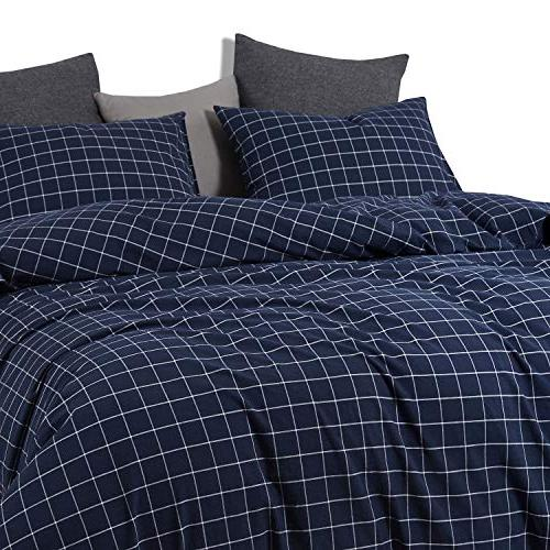 Wake In Navy Grid Navy Blue with Grid Geometric Soft