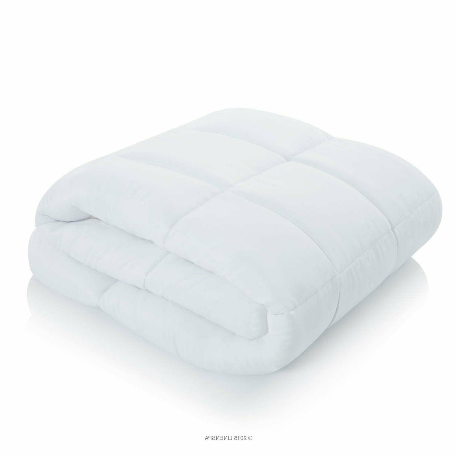 Queen All-Season White Down Quilted Comforter