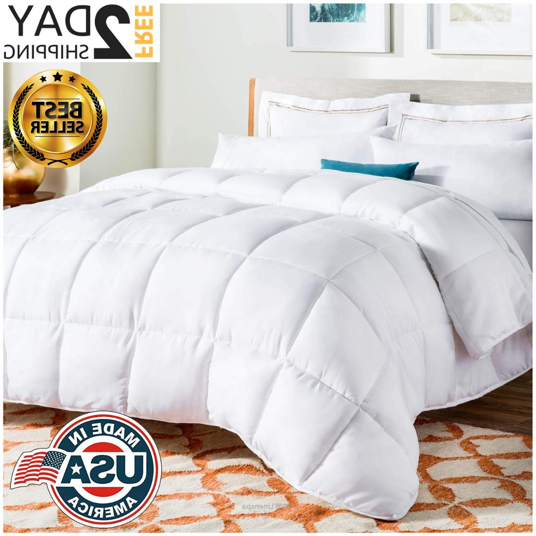 new queen size goose down comforter white