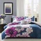 NEW Twin XL Full Queen Bed Navy Blue Gray Pink Large Floral