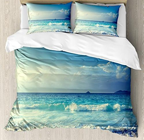 ocean queen duvet cover set