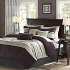 Comforter Set Queen 7 pc Plum Shams Bed Skirt Decorative Pil