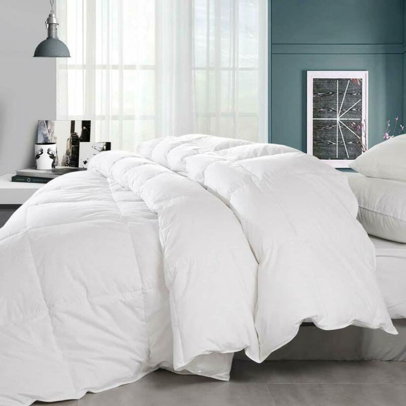 Balichun Down Comforter King- Solid Soft Thread Count Cotto