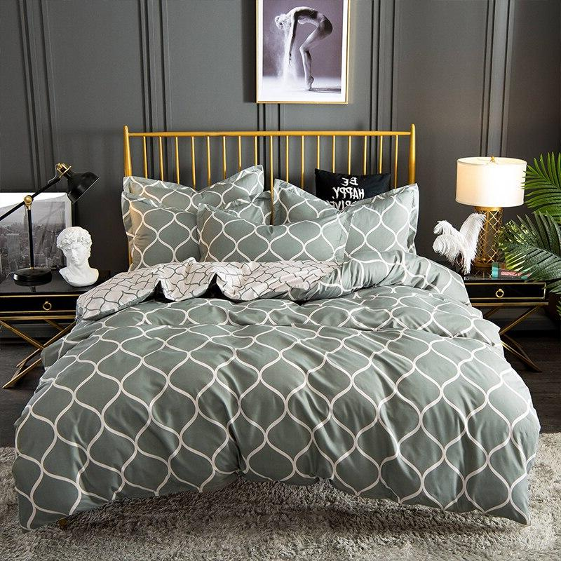 Sisher Printed Bedding set king sets with Pillowcase Double <font><b>Full</b></font> <font><b>Queen</b></font> Quilt Bedclothes