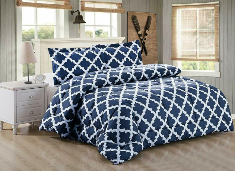 Printed Comforter with 2 Pillow Down alternative
