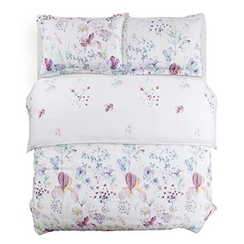 Bedsure Printed Cover Set White Duvet Cover 3