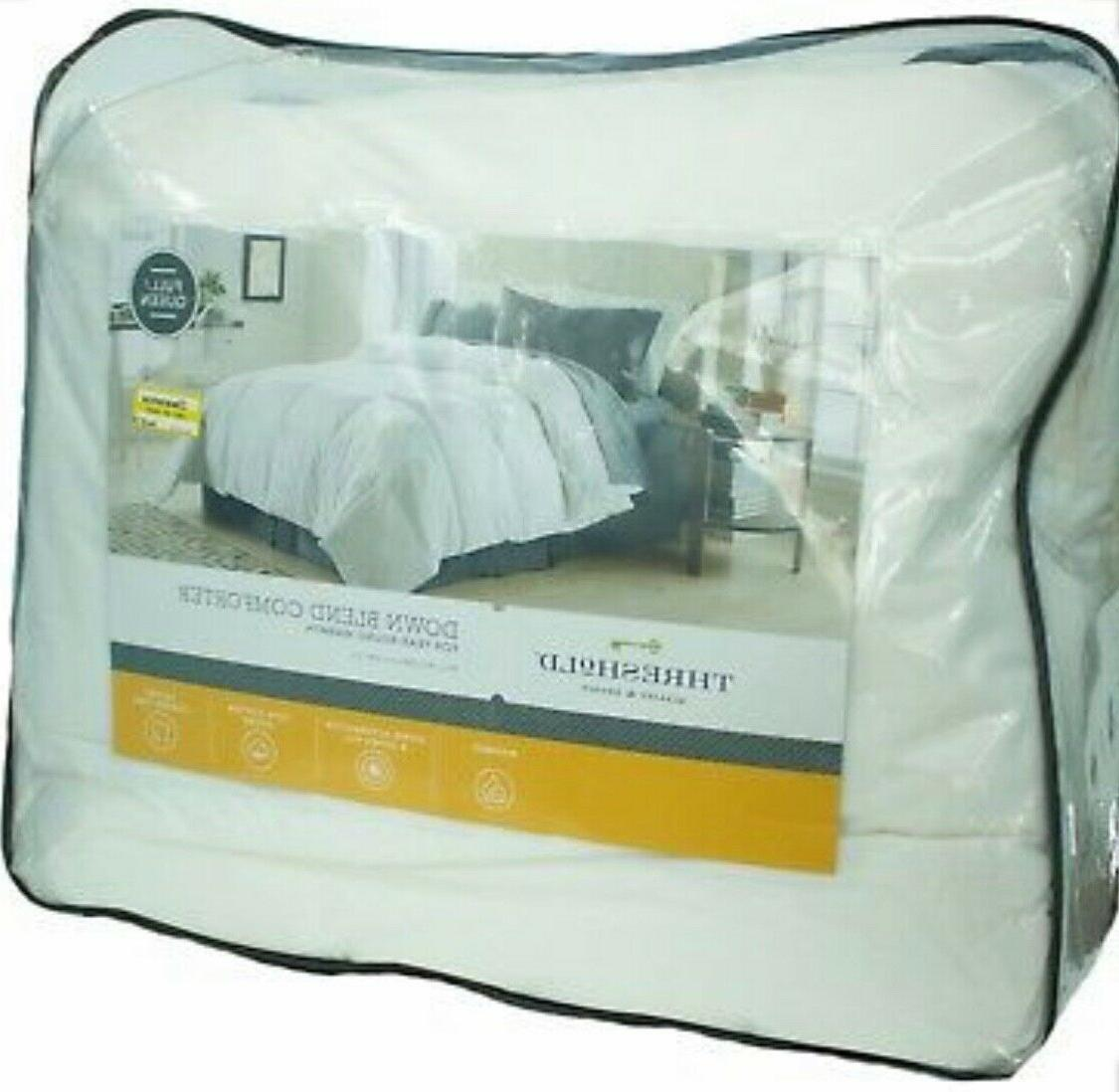 quality and design down blend comforter queen