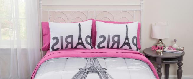 Pink Bedding With 7