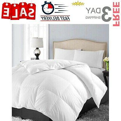queen size soft quilted down comforter reversible